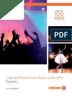 201406 Osram Lista de Precios Foto Óptica Junio 2014