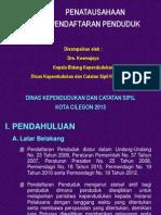 Materi Penatausahaan Pendafduk - 2013