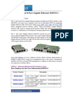 Cisco 4- And 8-Port Gigabit Ethernet EHWICs