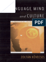 Language, Mind and Culture Kovecses