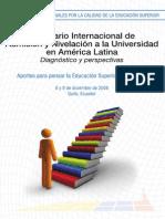 Seminario Internacional de Admisión y Nivelación a La Universidad en América Latina
