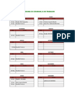 Cronograma de Segurança Do Trabalho - 2014