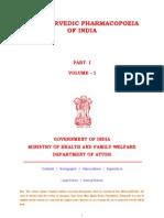 The Ayurvedic Pharmacopoeia of India