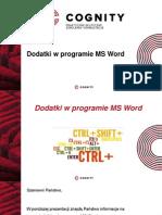 Cognity Kurs Word - dodatki w programie MS Word.pptx