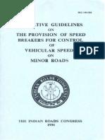 IRC 99-1996 Speed Breakers