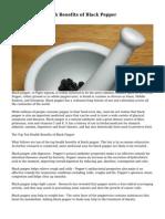 The Top Ten Health Benefits of Black Pepper