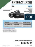 Sony HDR CX11E 12 E ServiceManualLevel2 v1.1 2008.11