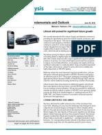 First Analysis Lithium Update June 2014