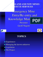 Emergency Mine Reentry