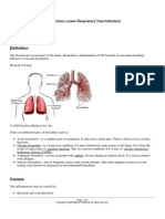 Upper Respiratory Tract Infection; Lower Respiratory Tract Infection