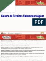 glosario HIDROMETEOROLÓGICOS