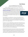 RN4020 Bluetooth LE Module Press Release..