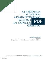 A Cobrança de Tarifas Administrativas Em Contratos de Concessão de Crédito