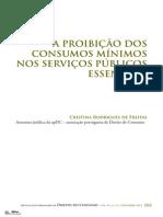 A Proibição Dos Consumos Mínimos Nos Serviços Públicos Essenciais