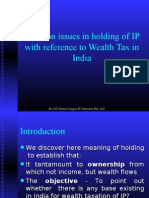 Taxation issues in holding of IP with reference to Wealth Tax in India
