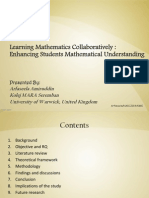Learning Mathematics Collaboratively