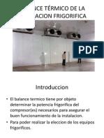 Balance Térmico de La Instalacion Frigorifica