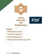 Atoms , Molecules & Stoichiometry ( STPM + Matriculation )