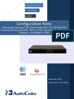 LTRT-38127 Connecting Genesys SIP Server With AT&T IP Toll Free SIP Trunking Service With MIS, PNT or AT&T VPN Transport, Via Mediant E-SBC