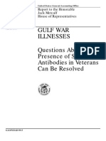 United States General accounting - Gulf War Illnesses - Report to the Honorable Jack Metcalf - House of representatives