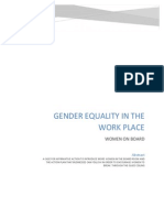 Gender Quality in the Work Place