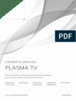 LG Plasma TV - Owner's Manual