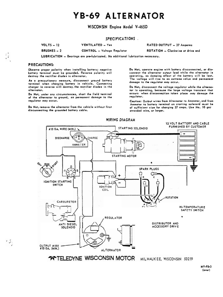 winpower wisc v 465d engine ignition system distributor rh scribd com VG4D Wisconsin Engine Wiring Diagram wisconsin engine vh4d wiring diagram