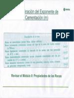 Determinacion de Exponente de Cementacion