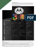Comparação Motorola E, G e X