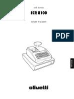 Manual Registadora ECR8100 Pt