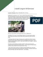 Ancaman Tanah Longsor Di Kawasan Gending