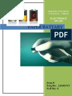 Paper Battery Full Seminar Report ssm