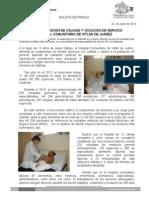 24/06/14 REFRENDA ATENCIÓN DE CALIDAD Y VOCACIÓN DE SERVICIO  HOSPITAL COMUNITARIO DE IXTLÁN DE JUÁREZ