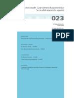 023 Protocolo de Traumatismo Raquimedular Cervical Tratamento Agudo