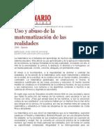 Uso y Abuso de La Matematización