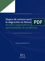 Mapeo Actores de La Migracion
