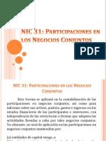 Nic 31 Participaciones en Los Negocios Conjuntos