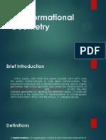 Transformational Geometry 2014
