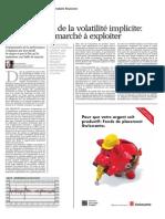 INDICES Mai 2014 Produits Financiers - Surévaluation de La Volatilité Implicite l'Anomalie de Marché à Exploiter
