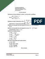 Estudo Dirigido - Calculo i