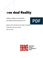 The Real Reality- Working Conditions in Nonfiction TV Industry