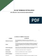 Glosario de Terminos Petroleros Exploracion y Produccion