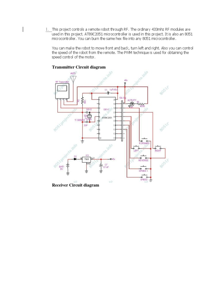 This Project Controls A Remote Robot Through Rf Transmitter Module Circuit Diagram Signal Electrical Engineering