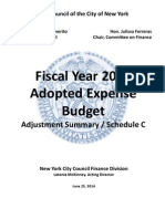 2014-06-25 FY15 Schedule C Template - Final (MMV NYCCouncil Slush Funds Report)