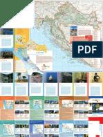 Straßen- und Tourismuskarte Kroatiens