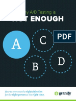 2014 Granify Why a.B Testing is Not Enough