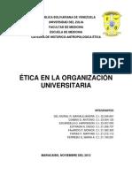 Informe de Etica en La Organización Universitaria