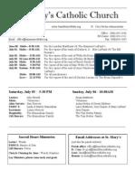 Bulletin for June 29, 2014