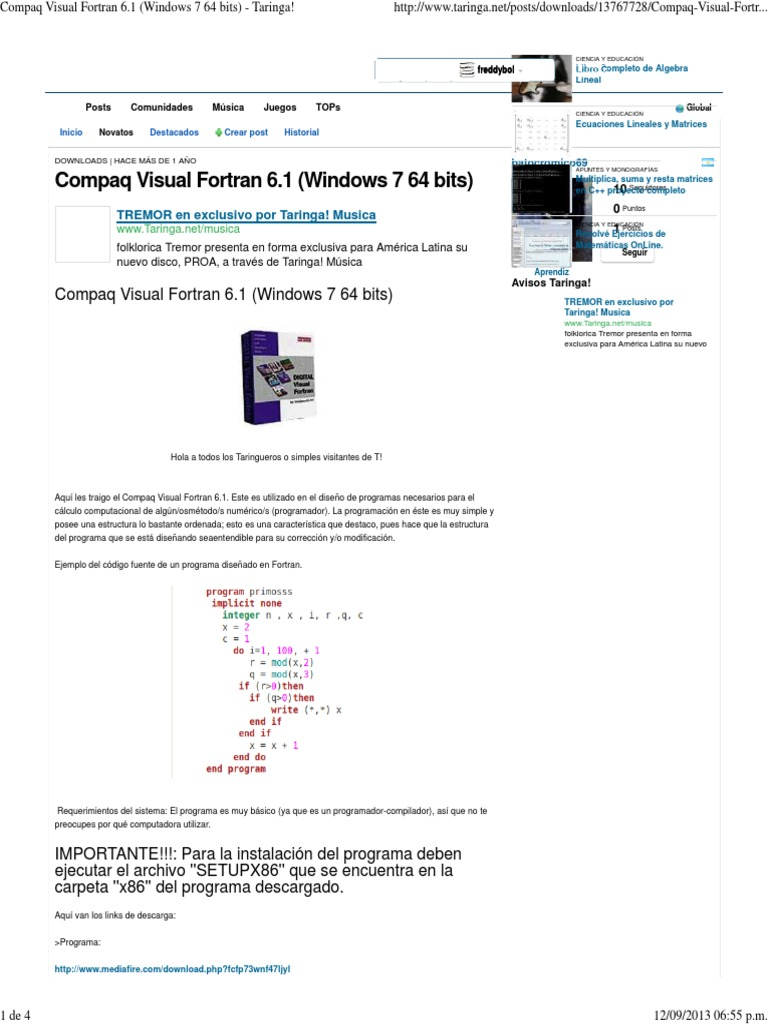 Migrating from compaq* visual fortran | intel® software.