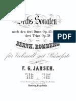 Romberg - Cello Sonata No4 From Duo Op38 No1 Jansen Cello